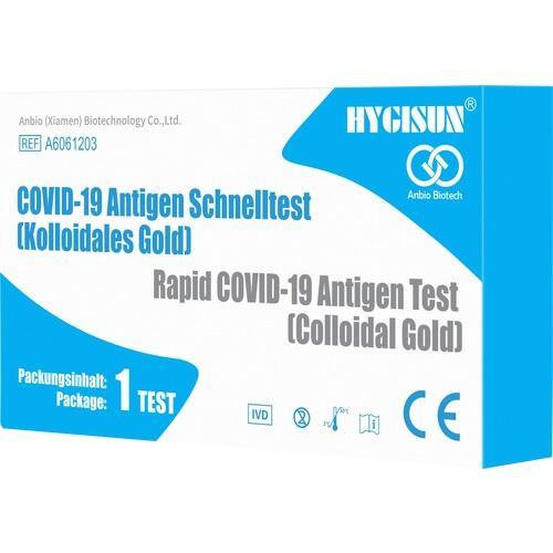 SPUCKTEST HYGISUN Ag COVID-19 Rapid Test Koll.Gold