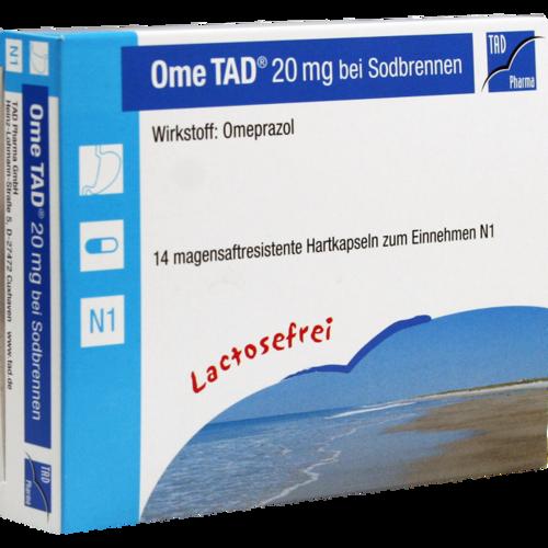 OME TAD 20 mg b.Sodbrennen magensaftres.Hartkaps.
