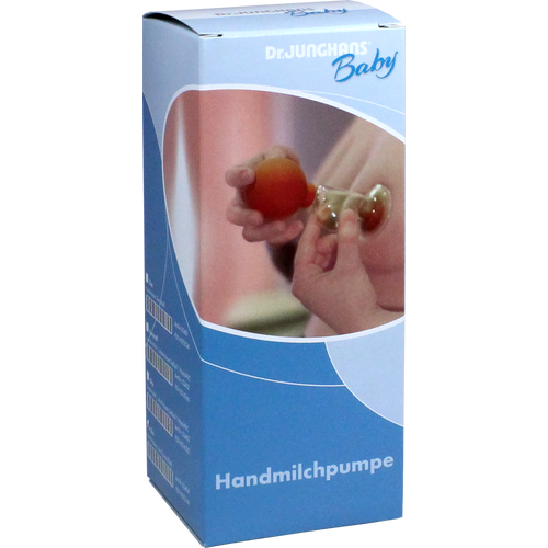 MILCHPUMPE Hand Kunststoffball mit Glas