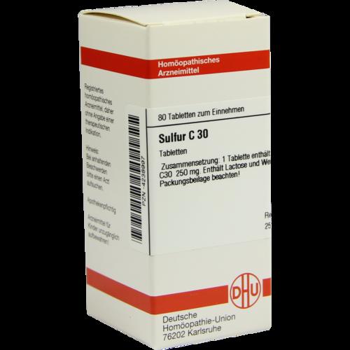 SULFUR C 30 Tabletten