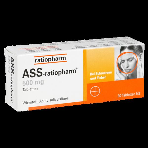 ASS ratiopharm 500mg Tabletten