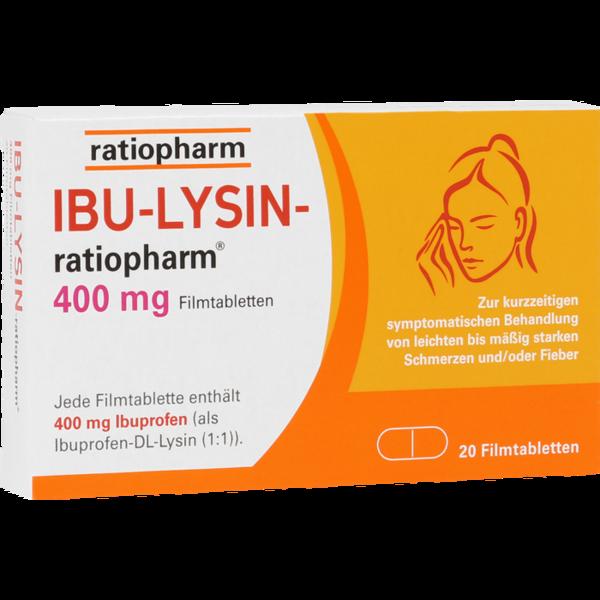 IBU-LYSIN ratiopharm 400mg Filmtabletten