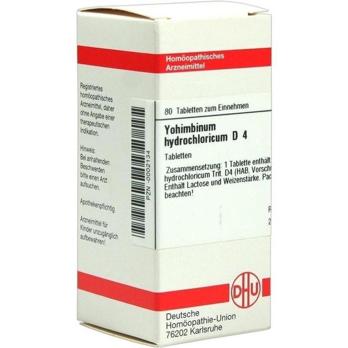 YOHIMBINUM HYDROCHLORICUM D 4 Tabletten