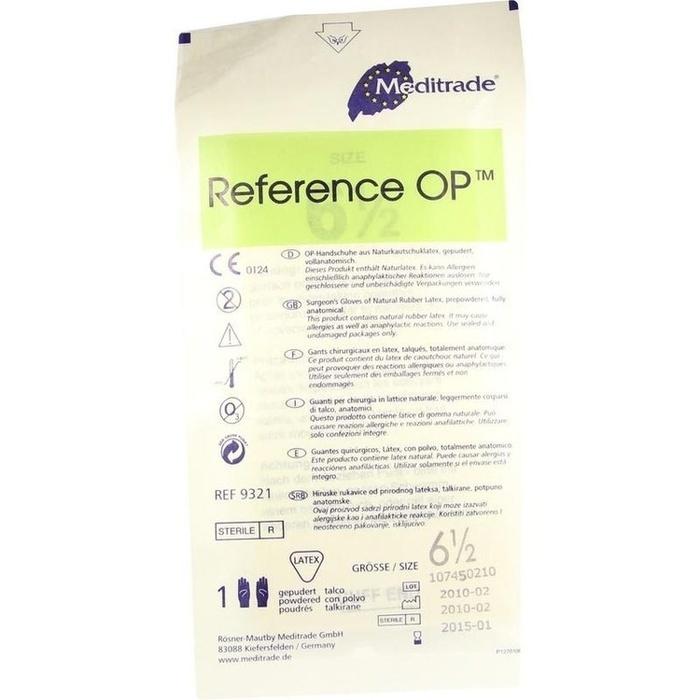 HANDSCHUHE OP Latex Gr.6,5 steril