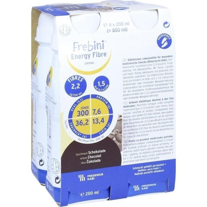 FREBINI Energy Fibre Drink Schokolade Trinkfl.