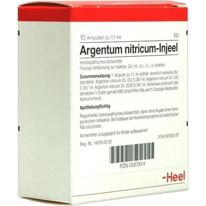 ARGENTUM NITRICUM INJEEL Ampullen
