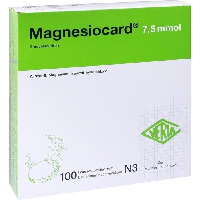 MAGNESIOCARD 7,5 mmol Brausetabletten