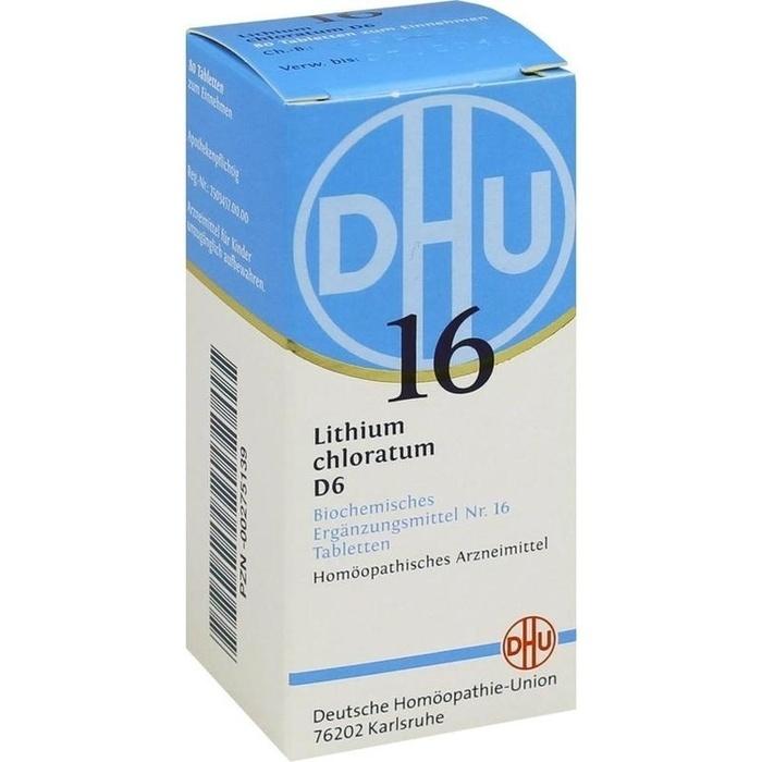 BIOCHEMIE DHU 16 Lithium chloratum D 6 Tabletten