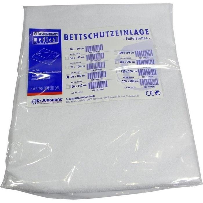 BETTSCHUTZEINLAGE Folie Frottee 90x100 cm