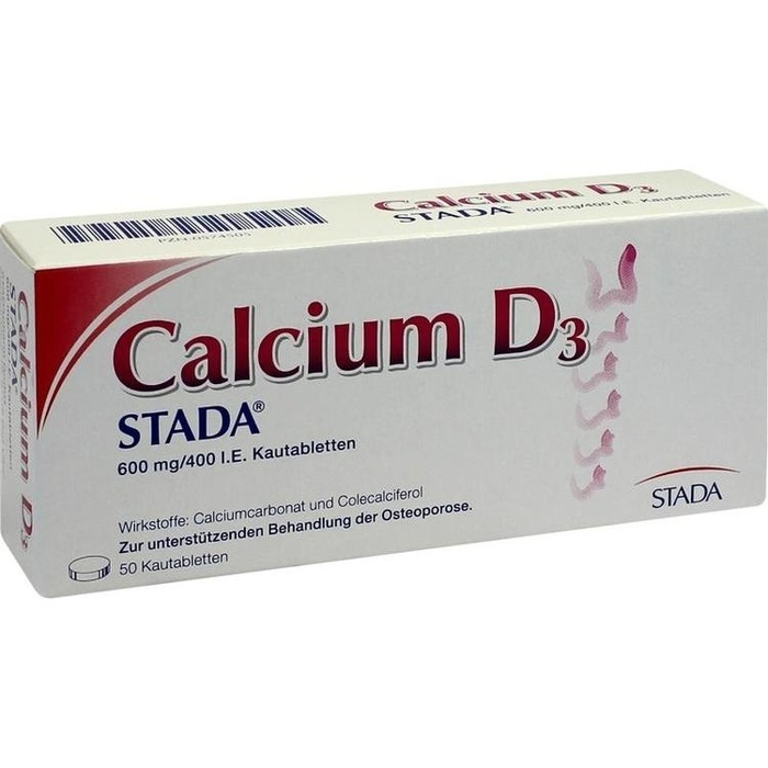 CALCIUM D3 STADA 600 mg/400 I.E. Kautabletten