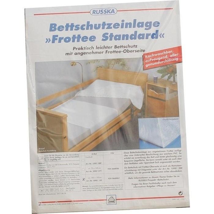 BETTSCHUTZEINLAGE Frottee Standard 100x150 cm