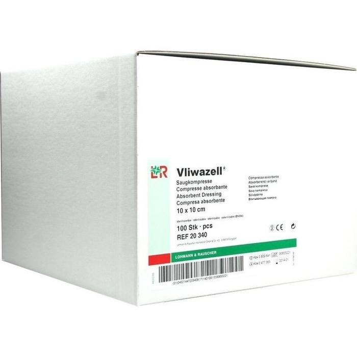VLIWAZELL Saugkompressen unsteril 10x10 cm