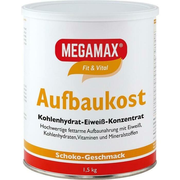 MEGAMAX Aufbaukost Schoko Pulver
