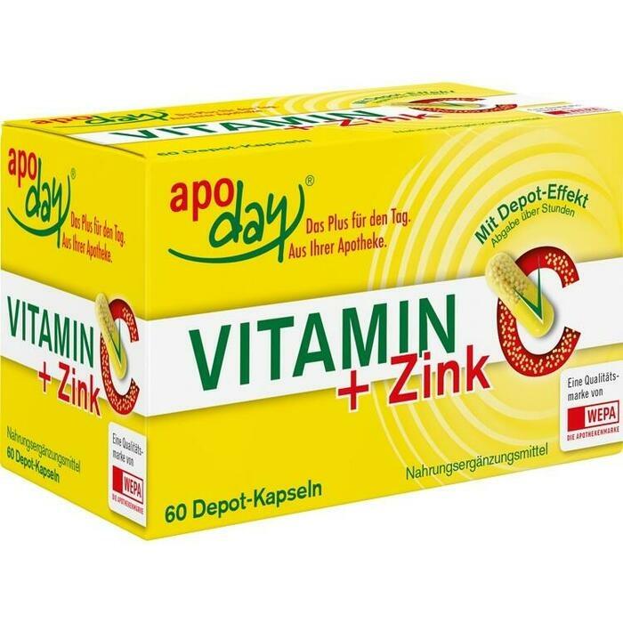VITAMIN C+ZINK Depot Kapseln