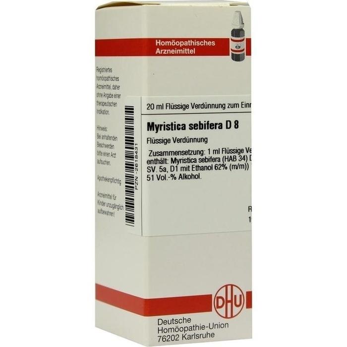 MYRISTICA SEBIFERA D 8 Dilution