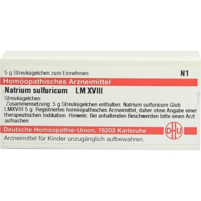 NATRIUM SULFURICUM LM XVIII Globuli