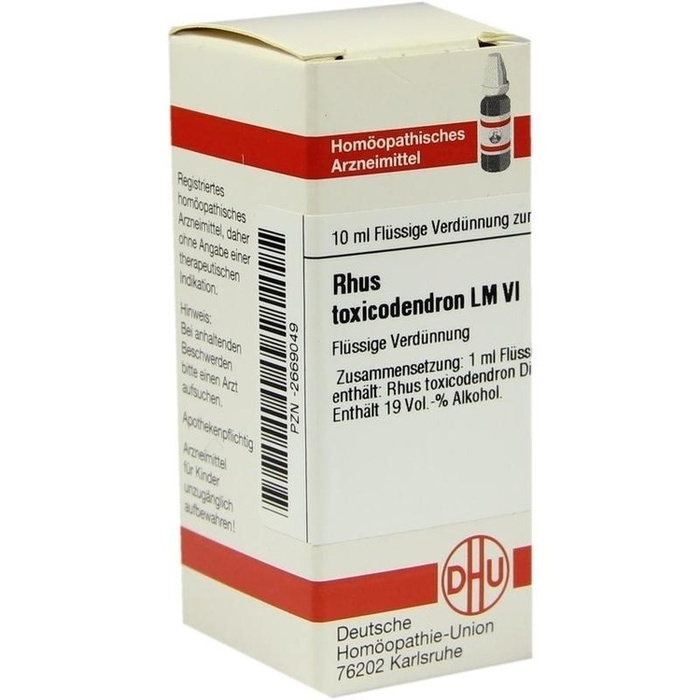 RHUS TOXICODENDRON LM VI Dilution