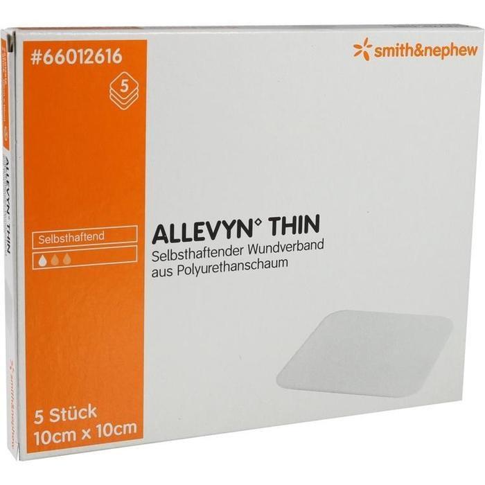 ALLEVYN Thin 10x10 cm dünne Wundauflage