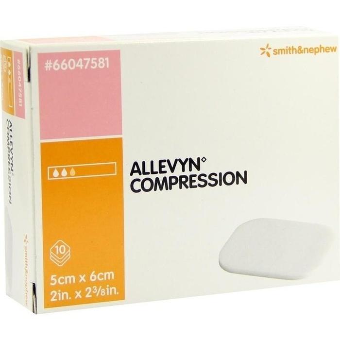 ALLEVYN Compression 5x6 cm hydrosel.Wundauflage