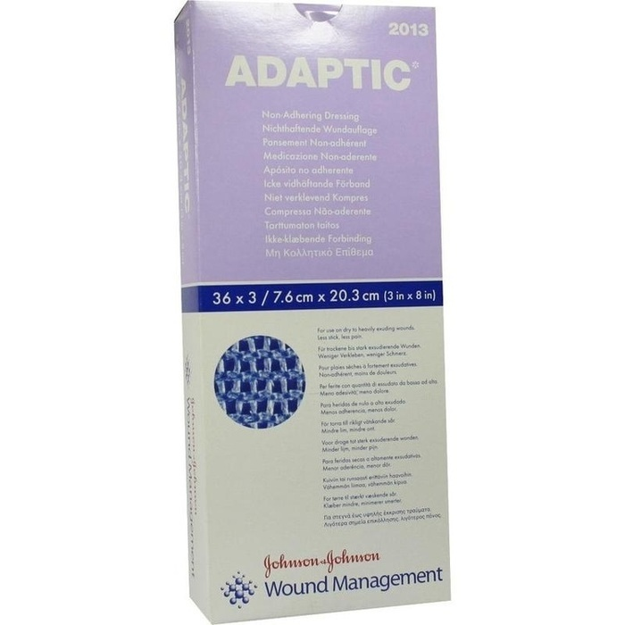 ADAPTIC 7,6x20,3 cm feuchte Wundauflage 2013