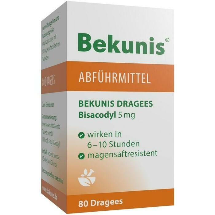 BEKUNIS Dragees Bisacodyl 5 mg magensaftres.Tabl.