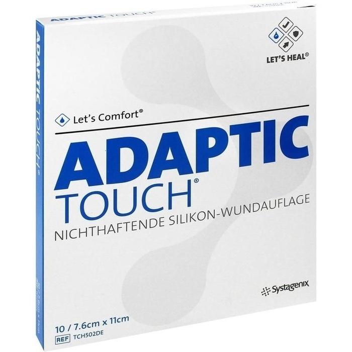 ADAPTIC Touch 7,6x11 cm nichthaft.Sil.Wundauflage