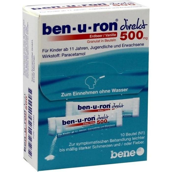 BEN-U-RON direkt 500 mg Granulat Erdbeer/Vanille