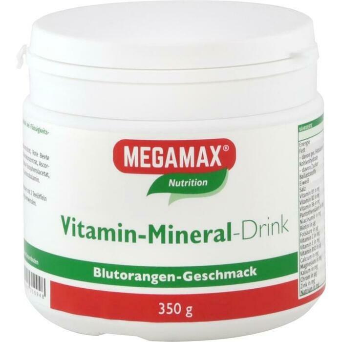 MEGAMAX Vita Mineral Drink Orange Pulver