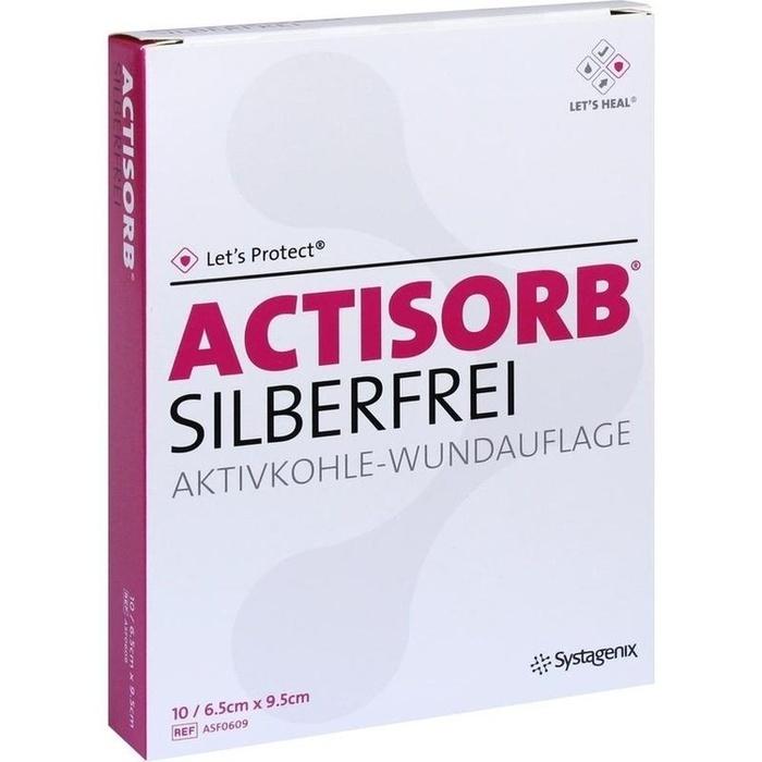 ACTISORB SILBERFREI 6,5x9,5 cm Kompressen