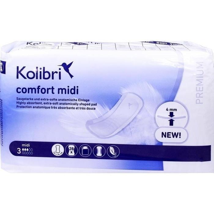 KOLIBRI comfort premium Einlagen midi