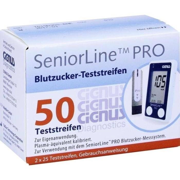 SENIORLINE PRO Blutzucker-Teststreifen Cignus