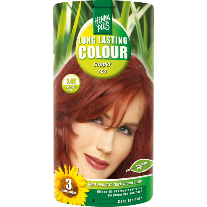 HENNAPLUS Long Lasting copper red 7,46