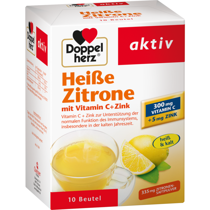 DOPPELHERZ heiße Zitrone Vitamin C+Zink Granulat