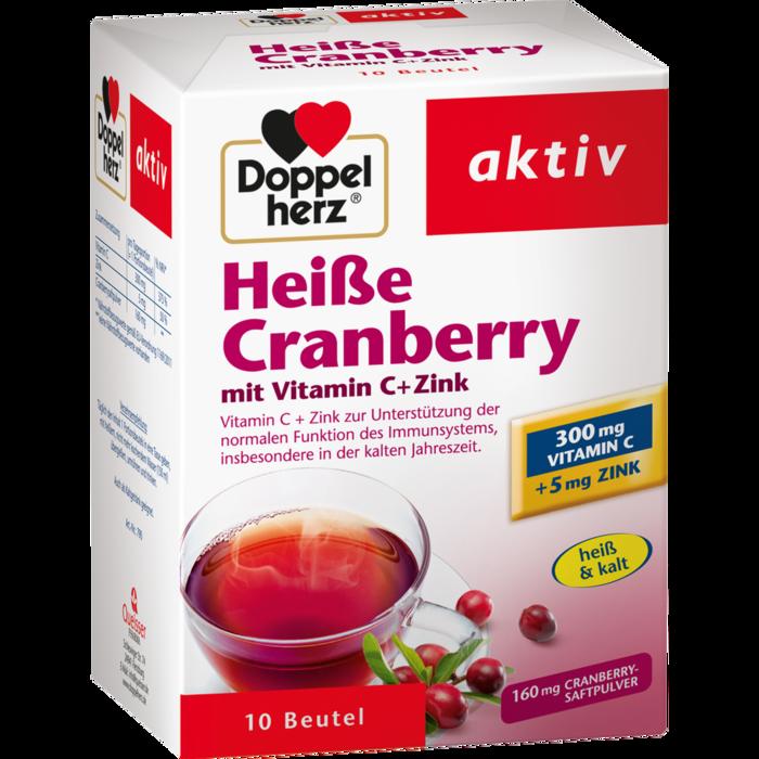 DOPPELHERZ heiße Cranberry m.Vit.C+Zink Granulat