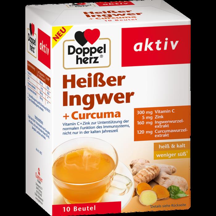 DOPPELHERZ heißer Ingwer+Curcuma Beutel