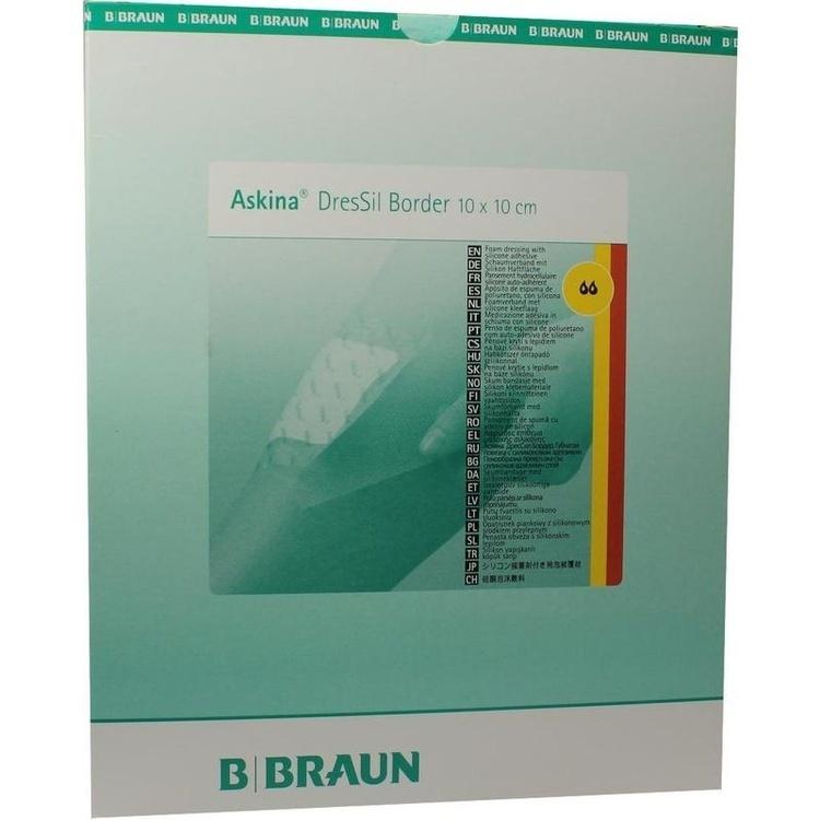 askina dressil border sil.schaumst.v.10x10 cm 10 st - Bder Braun
